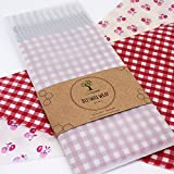 Bees wax Wrap Assorted 3 Pack, Eco Friendly Reusable Food Wraps, Sustainable Plastic Free Food Storage, Print - 1 Small, 1 Medium, 1 Large, Fair Trade Product (On Sale for a Limited Time)