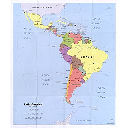Latin America Map Amazon