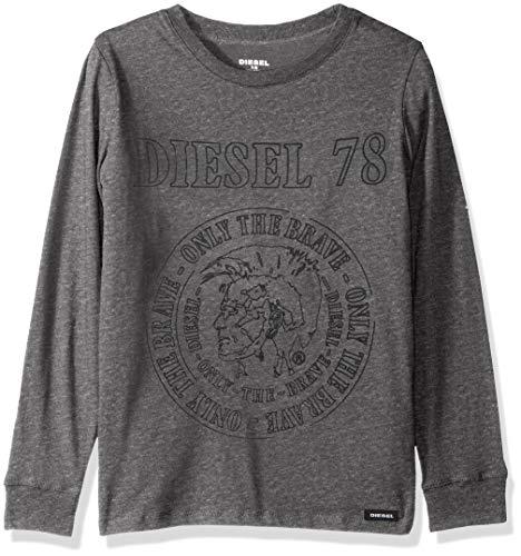 Diesel Boys' Big Long Sleeve T-Shirt, Charcoal, 8 ()