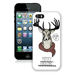 Recommend Design Iphone 5S Protective Cover Case Christmas Deer iPhone 5 5S TPU Case 1 White
