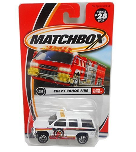 2000 Matchbox CHevy Tahoe Fire #28 of 75 H20 Force Flame Eaters 1:64 (Matchbox Chevy Tahoe)