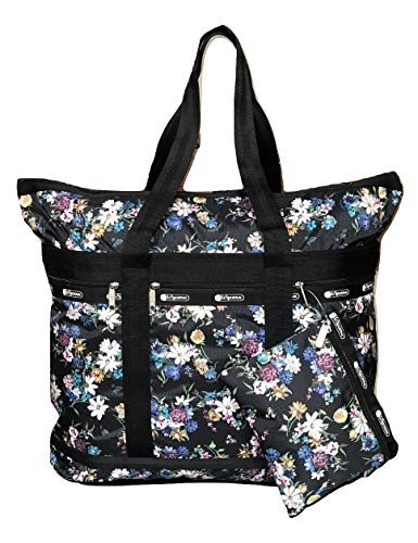 LeSportsac Endless Fields Travel Tote + Matching Cosmetic Bag ()