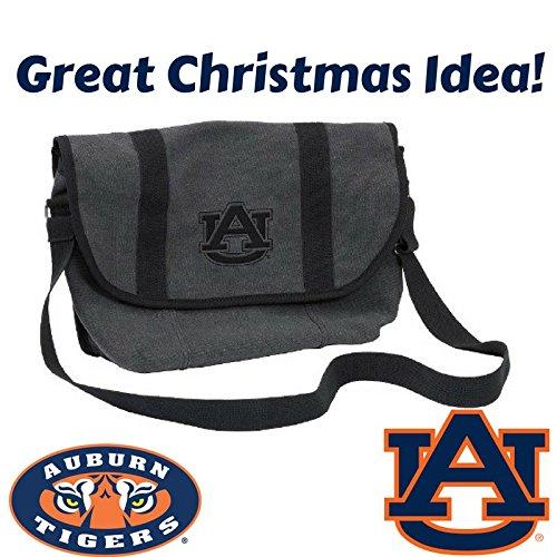 Logo Brands NCAA Auburn Varsity Messenger Bag