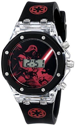 Star Wars Kids' SWCKD041 Digital Darth Vader Watch in Molded Head Gift Tin