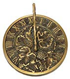 Rome 2306 Grapevine Sundial, Solid Brass with Verdigris Highlights, 7.5-Inch Diameter