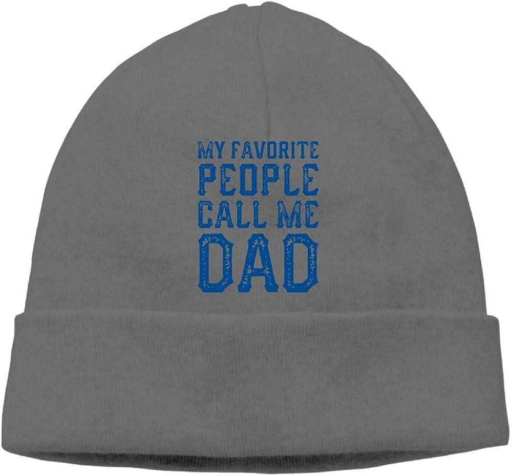 oopp jfhg Beanie Knit Hats Ski Cap My Favorite People Call Me Dad Mens DeepHeather