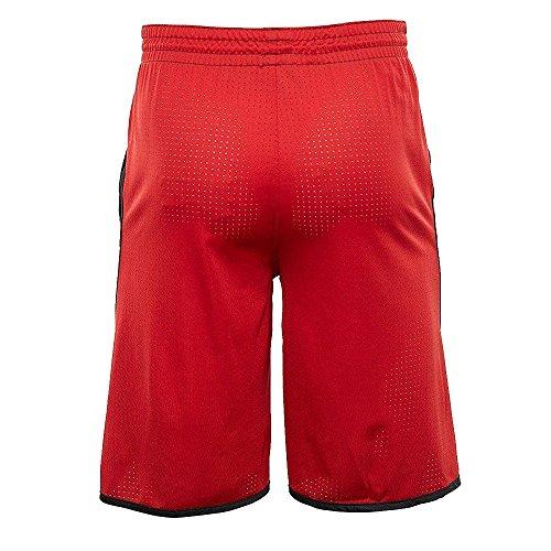 NIKE Herren Air Jordan Flight Basketball Shorts Schwarz Rot AA5581 011