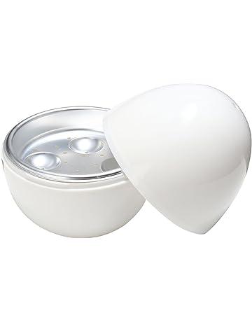 BESTOMZ Huevo de la Microondas Huevos de la bandeja Huevera Cocedor 4 Huevo