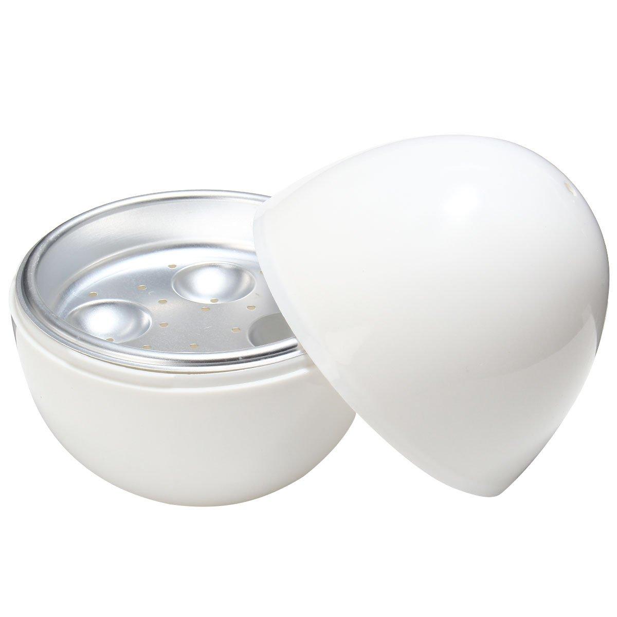 Fornello di uovo OUNONA cuociuova microonde con 4 posti in Bianco