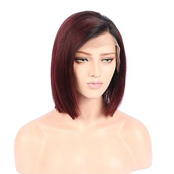 Amazon Com Beeos Hair Ombre Human Hair Bob Wigs Dark Roots To
