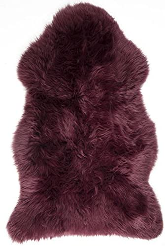 Lambland Genuine British Sheepskin Rug Mulberry Purple