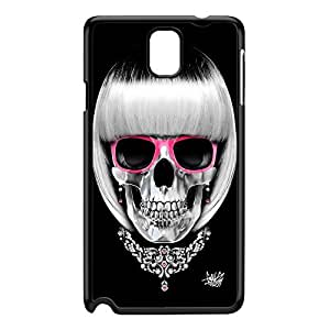 Lady Skull 01 Black Hard Plastic Case for Galaxy Note 3 by Gangtoyz + FREE Crystal Clear Screen Protector