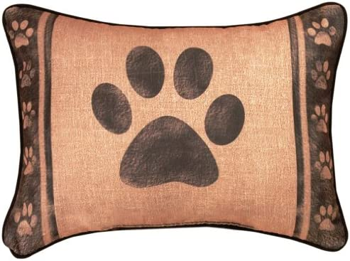 Manual Woodworkers and Weavers Dog to Rescue Printed Pillow, Lick Woof Wag, 13 by 18-Inch