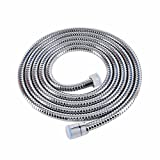 Lansan SUS 304 Stainless Steel Handheld Shower Hose Replacement Faucet Extension Tubes (118inch)