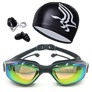 Amazon.com : TR318 Swim Goggles Swim Cap Nose Clip