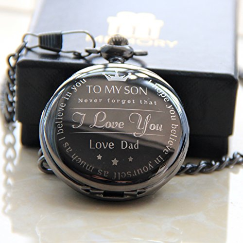 Memory From Father to Son Dad , Pocket Watch from Dad To Son , Birthday Gift for Sons by memory gift shop