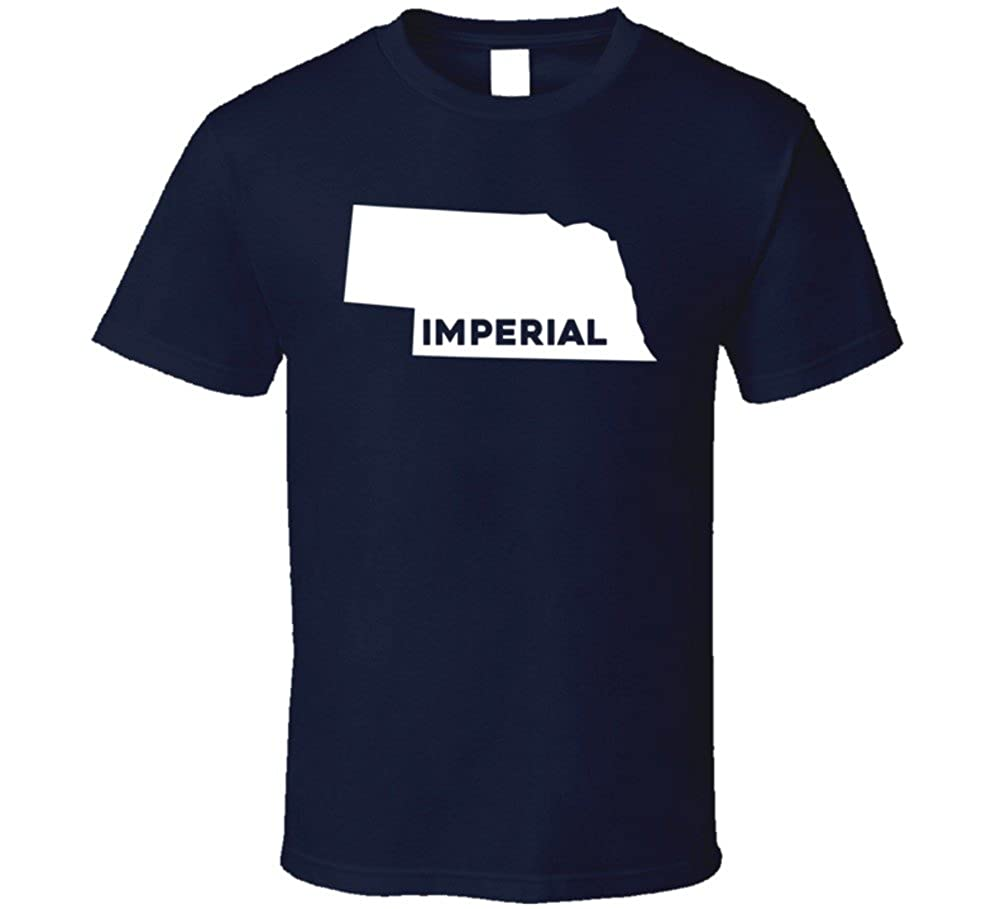 Imperial Nebraska Map.Amazon Com Imperial Nebraska City Map Usa Pride T Shirt Clothing
