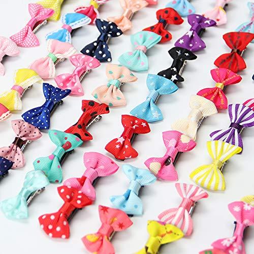 20Pcs Colorful Bow Hairpins Hair Barrette Kids Cute Baby Girl Headwear Hair Clip