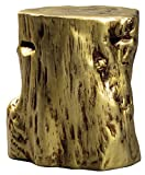 Ashley Furniture Signature Design – Majaci Accent Table – Contemporary – Antique Gold Finish – Tree Stump Design