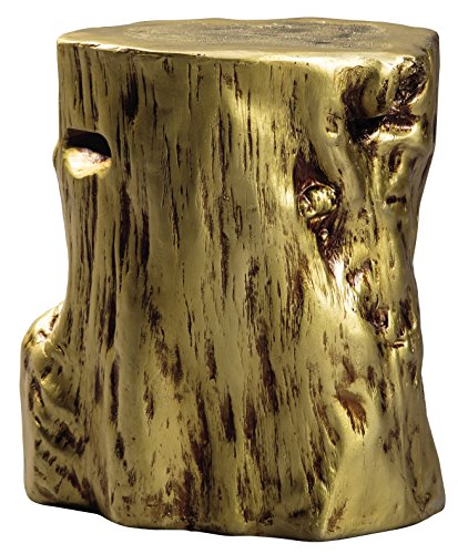 - Ashley Furniture Signature Design - Majaci Accent Table - Contemporary - Antique Gold Finish - Tree Stump Design