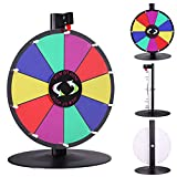 15'' Table Top Spinning Prize Wheel 10 Slot Dry Erase Fortune Spin Game