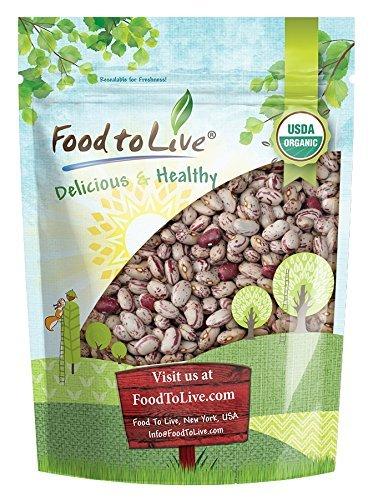 - Organic Cranberry Beans, 1 Pound - Dried Borlotti Beans, Non-GMO, Kosher, Raw Romano Beans in Bulk, Product of the USA