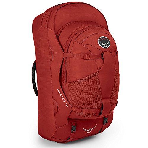 Osprey Packs Farpoint 70 Travel Backpack, Jasper Red, Medium/Large