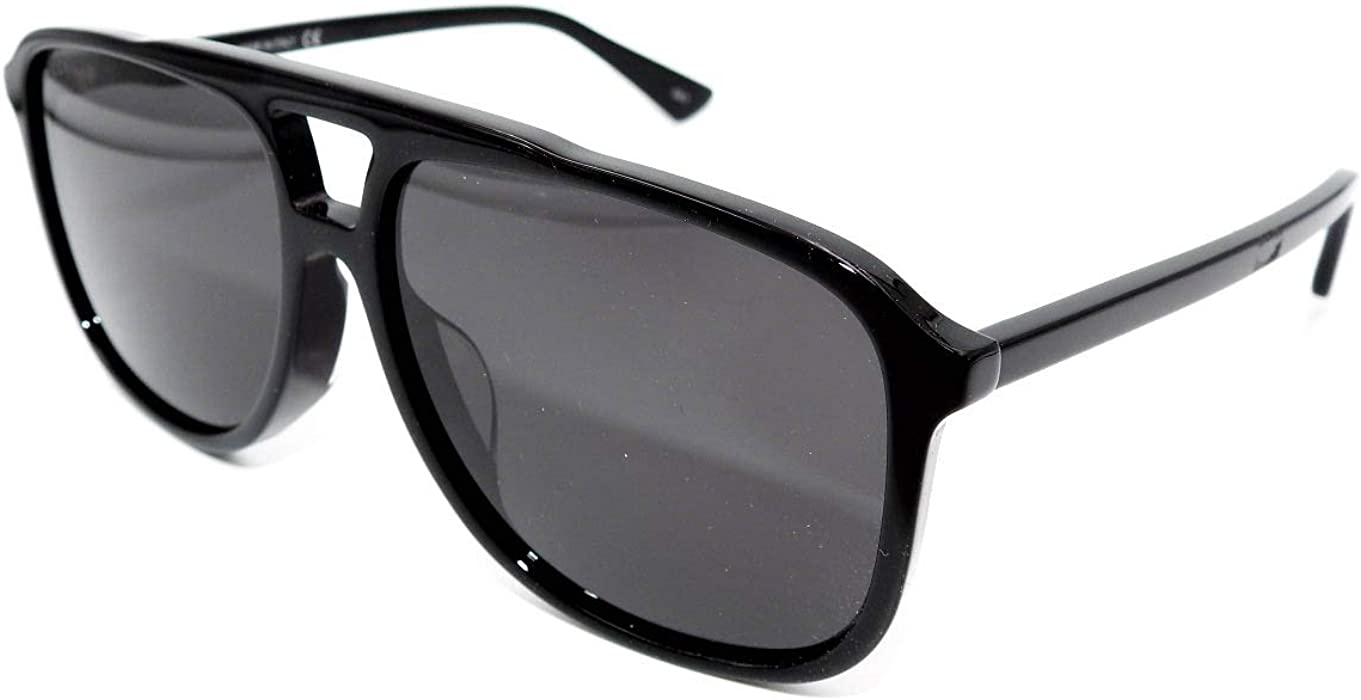 418773d8a9e Amazon.com  Sunglasses Gucci GG 0262 SA- 001 BLACK GREY  Clothing