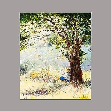 HYu0026GG Hand Painted Still Life Horizontal, Mediterranen Europäischen Stil  Eine Zentrale Leinwand Öl Malerei