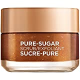 L'Oreal Paris Pure-Sugar Scrub with 3 Fine Sugars + Grapeseed, Face & Lips, For Dull Skin, 50 ml