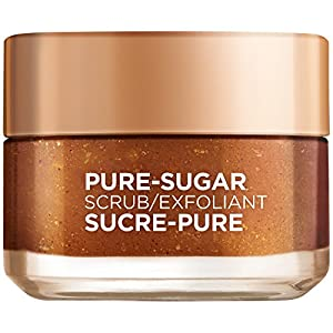 L'Oréal Paris Skin Care Pure Sugar Face Scrub with Grapeseed for Dull Skin to Smooth and Glow, 1.7 fl. oz.