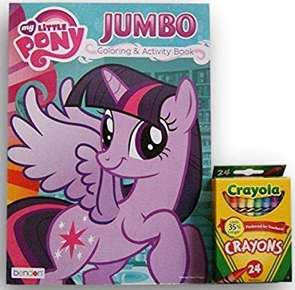 Amazon.com: My Little Pony Jumbo Coloring And Activity Book With Crayola  Crayons: Toys & Games
