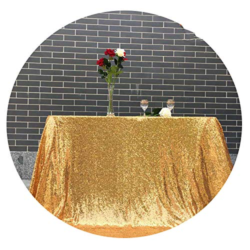14 Colors 225cmX330cm Glitter Silver Sequin Tablecloth 90x132 inches Wedding Tablecloth,Gold,120in-300cm -