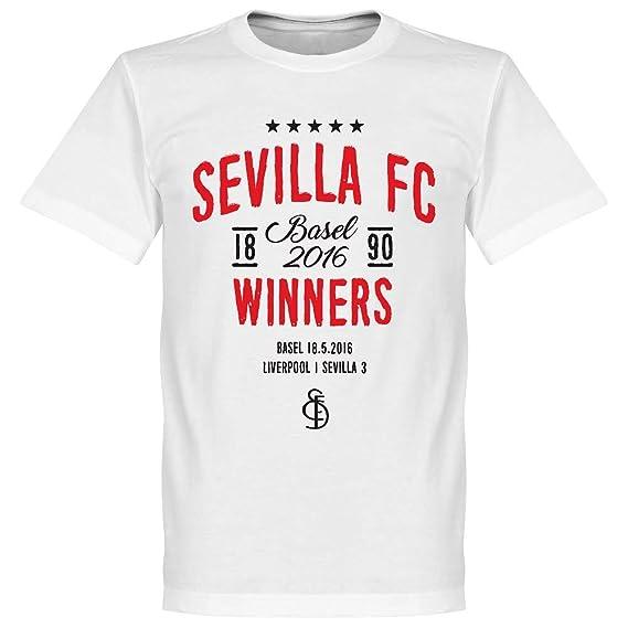 Sevilla 2015 2016 Europa League ganadores Camiseta - Blanco Blanco ...