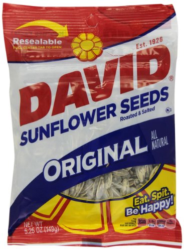 David Sunflower Seeds Original Flavor, 5.25-Ounce Bags (Pack of 12) (Seed Tiger)
