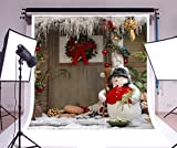 Christmas Photography Backdrops HD Vinyl Background Paper Photo Studio Props No Creases (7×5 ft, Snow man)
