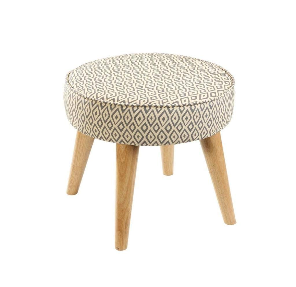 TTZ Small Seat Round Luxury Sofa Stool, Solid Wood Footstool Thickening Makeup Stool Living Room/Office/Lounge (Color : #2)