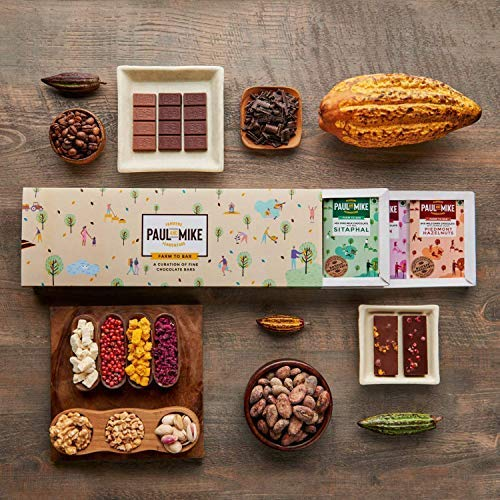 PAUL AND MIKE Chocolate Gift Box - Pack of Ten 13 G Bars: Amazon.in:  Grocery & Gourmet Foods