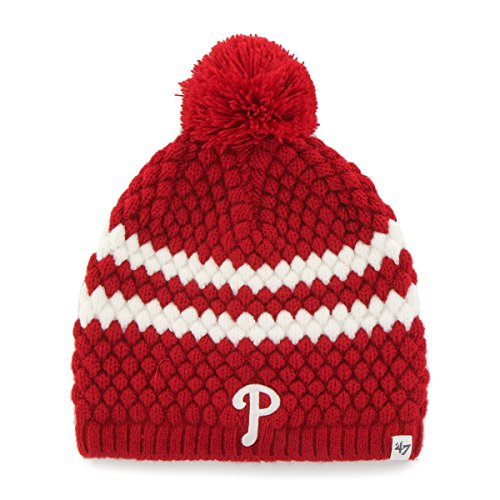MLB Philadelphia Phillies Women's '47 Kendall Beanie Knit Hat, Red