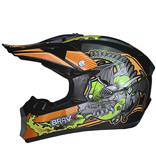 Amazon.com: VIRTUE Motocross ATV Casco Motocicleta Casque Para Moto Casco Off Road Dirt Bike (Large): Automotive