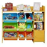 Children's Toy Storage Rack Baby Toy Storage Cabinet Kindergarten Storage Box Plastic Box (Color : Bright Color, Size : 115 * 29.5 * 100cm)