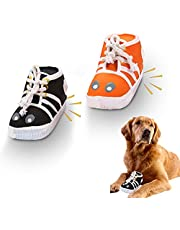Squeaky Dog Toys Cute Shoes Combo,Screaming Rubber Chicken Dog Squeaky Toy,Latex Chew Molar Dog Toy,2pcs