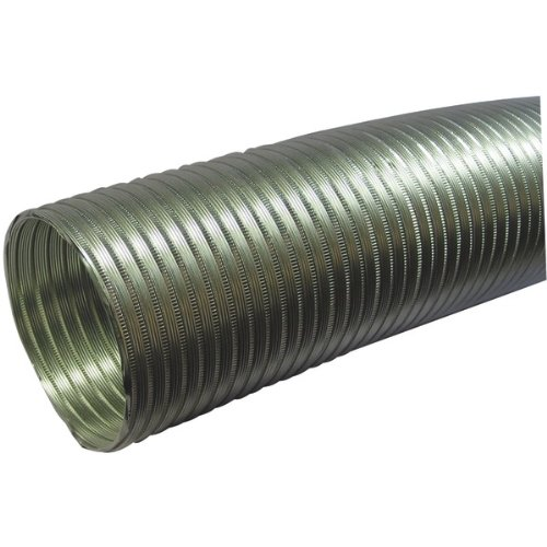 1 - Semi-Rigid Flexible Aluminum Duct (5'' dia x 8ft), 5'' dia x 8ft length, Fire-resistant aluminum, A058/5