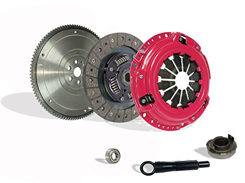 Clutch With Flywheel Kit Works With Honda Crx Civic Base Cx Dx Ex 1990-1991 1.6L L4 1.5L l4 GAS SOHC Naturally Aspirated (D15; D16; all model with ZC motor w/cable tranny; Except 4Wd Wagon; Stage 1)