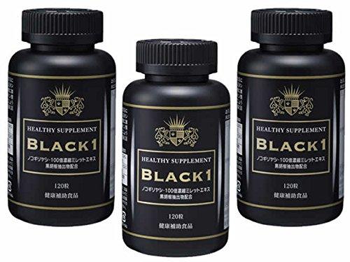 ブラックワン 細胞や毛髪細胞に必須の必須アミノ酸、ノコギリヤシ カボチャ種子エキス亜鉛 ビオチン バナチン ミレット 亜鉛 アルギニン 黒胡椒抽出物などを配合 [3個セット] B01E3Q7UUY