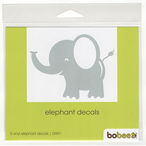 Bobee Small Elephant Wall Decals, Room Decorations, Light Gr