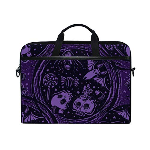 TARTINY 15-15.4 Inch Laptop Bag Vector Illustration Happy Halloween Portal Stars Sweets Shoulder Messenger Bags Sleeve Case Tablet Briefcase with Handle Strap -