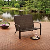 Better Homes and Gardens Patio Wicker Adirondack Outdoor Bench