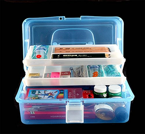 Tosnail 12 inch plastic art supply craft storage tool box for Quality craft tool box