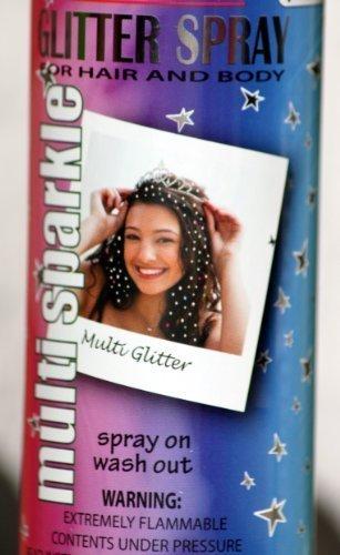 Multi Sparkle Temporary Hairspray Cheerleader Halloween